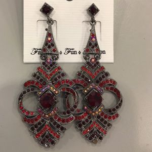 Red/Grey Earrings